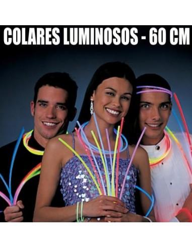 50 COLARES LUMINOSOS 60CM PARA FESTAS