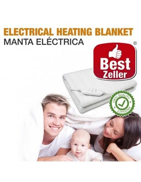 MANTA ELECTRICA DUPLA 160 X 140 CM  Manta com Mangas