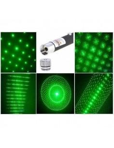 Ponteiro Laser Verde 100 mw + 5 Ponteiras Efeitos Especiais