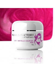 GEL UV DE CÔR METALICO LIGHT PINK