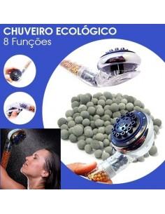 CHUVEIRO ECOLÓGICO 8 FUNÇÕES POUPE 65%