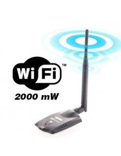 ANTENA WIRELESS USB 2000 Mw HIGH POWER
