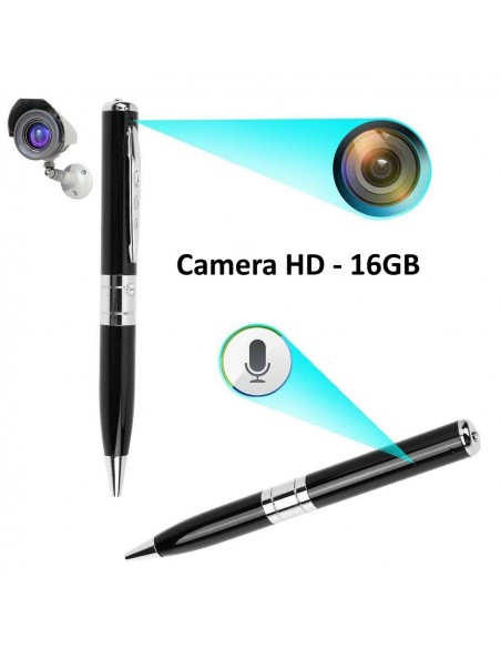 ESFEROGRAFICA SPY PEN HD + MICRO SDHC 16GB