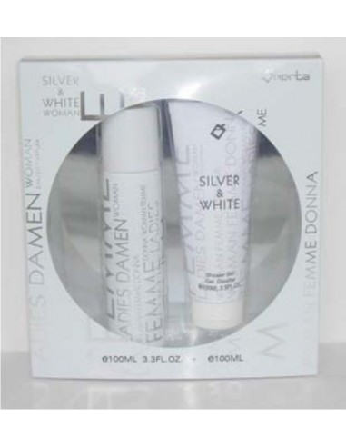 WHITE & SILVER WOMAN 100ML - BLACK CODE - ARMANI + GEL DE BANHO