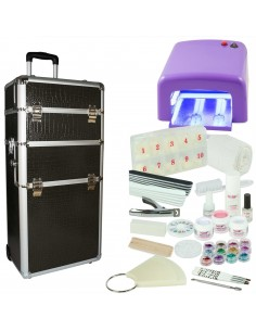 KIT UNHAS DE GEL XXL FORNO UV 36 WATTS ROSA KITS UNHAS DE GEL COM MALA