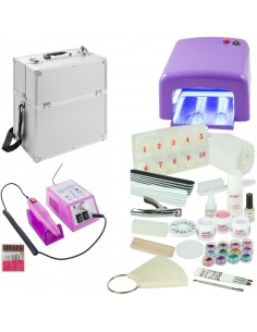 KIT UNHAS DE GEL XL FORNO UV 36 WATTS LILAS + BROCA 20000 RPM Manicure e Pedicure