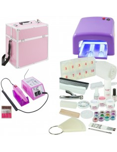 KIT UNHAS DE GEL LILAS + MALA ROSA + BROCA KITS UNHAS DE GEL COM BROCA