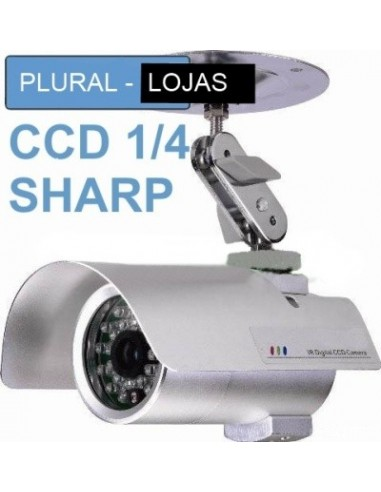 Camera CCD 35 Leds 1/4 SHARP 12 mm