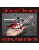 Mini Heli 3.5 Canais RC Metal