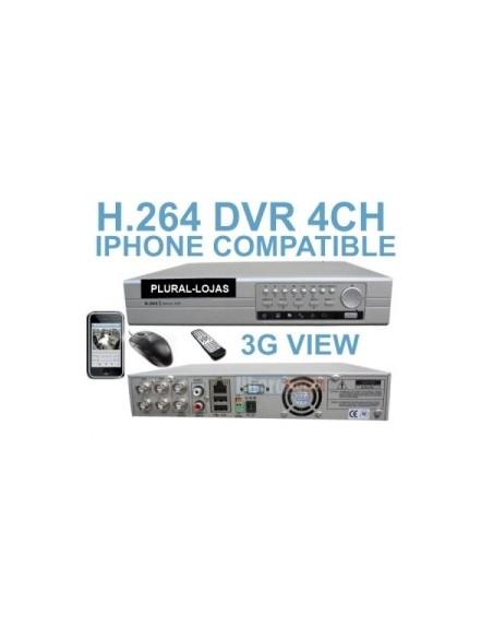 Dvr 4 canais Video Gravador H.264 Internet