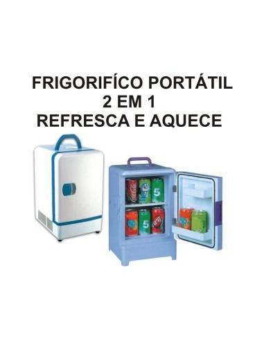 MINI FRIGORIFICO PORTÁTIL 2 EM 1 REFRESCA E AQUECE